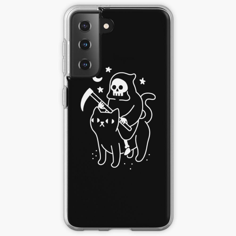 Death Rides A Black Cat Case & Skin for Samsung Galaxy