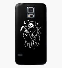 Todesfahrten Eine schwarze Katze Hülle & Klebefolie für Samsung Galaxy
