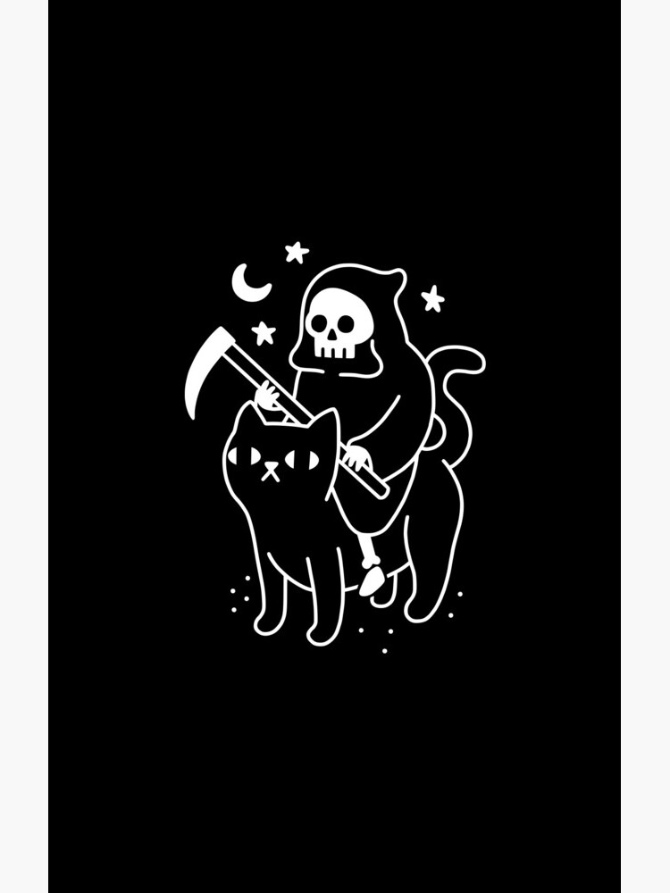 Death Rides A Black Cat by obinsun
