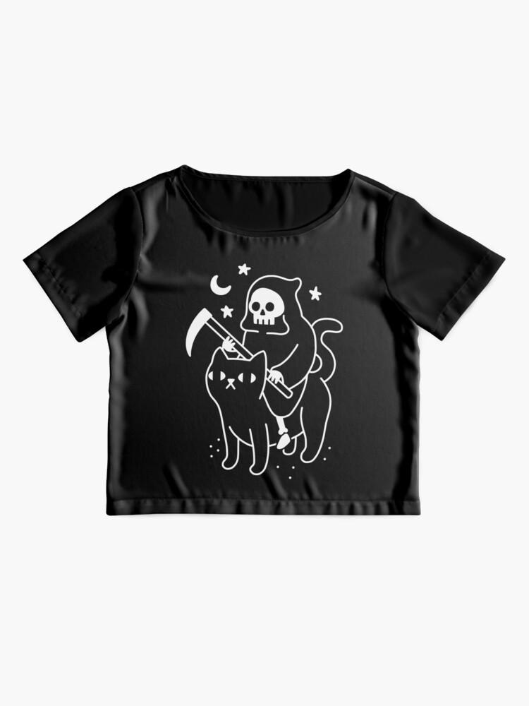 Alternate view of Death Rides A Black Cat Chiffon Top