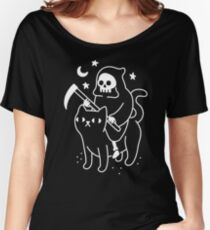 Death Rides A Black Cat Women's Relaxed Fit T-Shirt