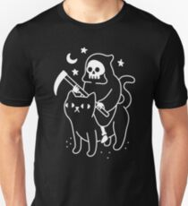 Death Rides A Black Cat Unisex T-Shirt