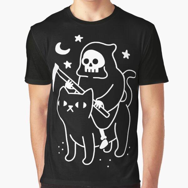 Death Rides A Black Cat Graphic T-Shirt