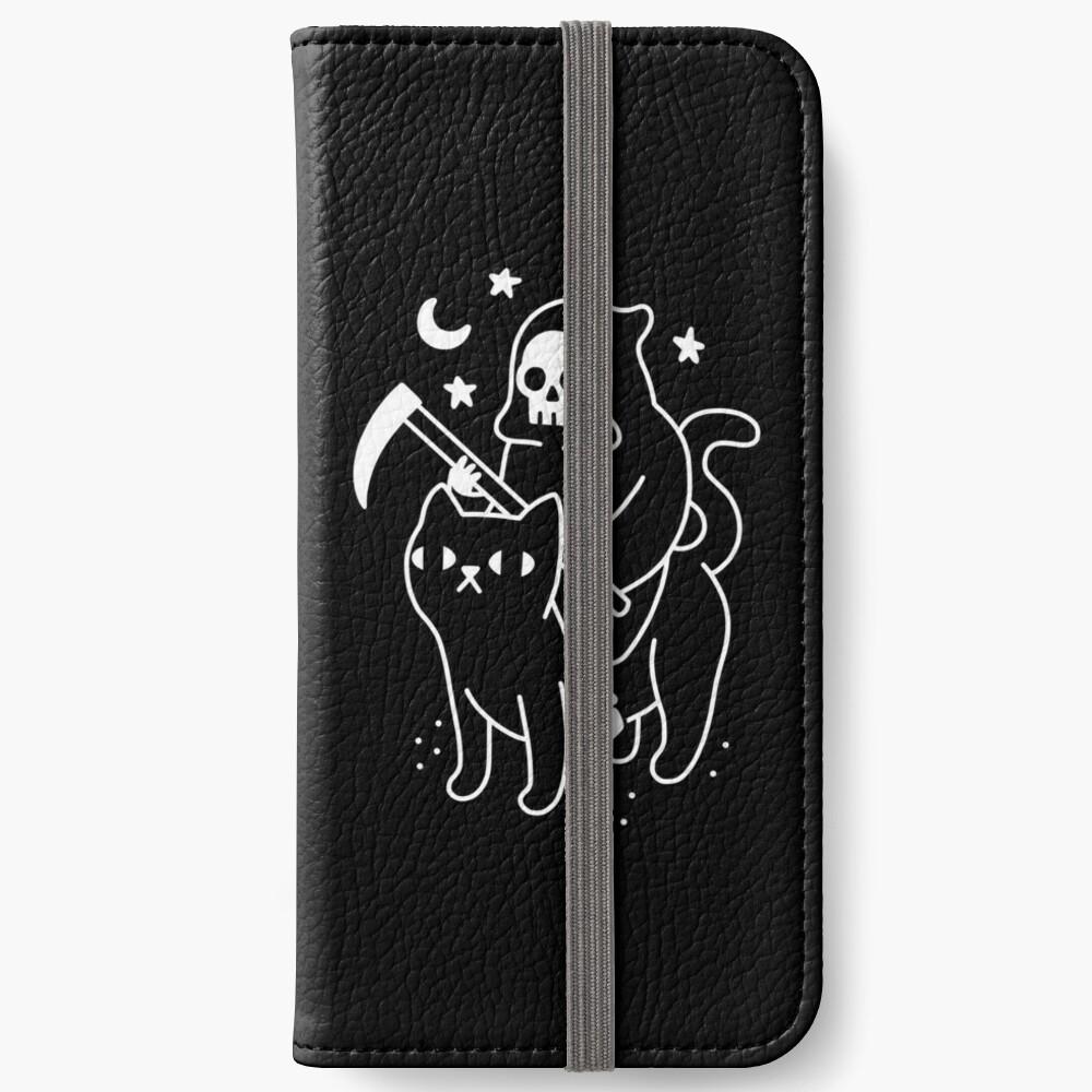 Death Rides A Black Cat iPhone Wallet