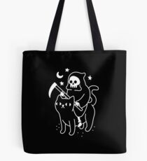 Death Rides A Black Cat Tote Bag