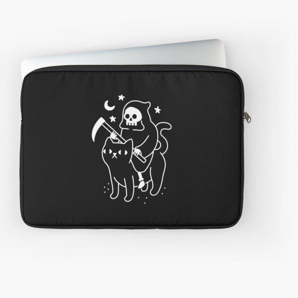 Death Rides A Black Cat Laptop Sleeve
