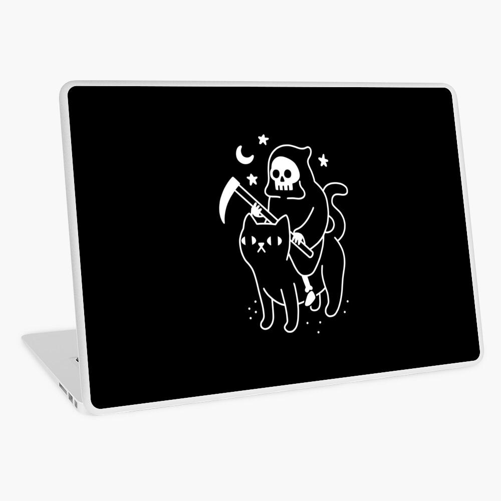 Death Rides A Black Cat Laptop Skin