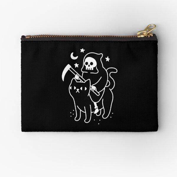Death Rides A Black Cat Zipper Pouch