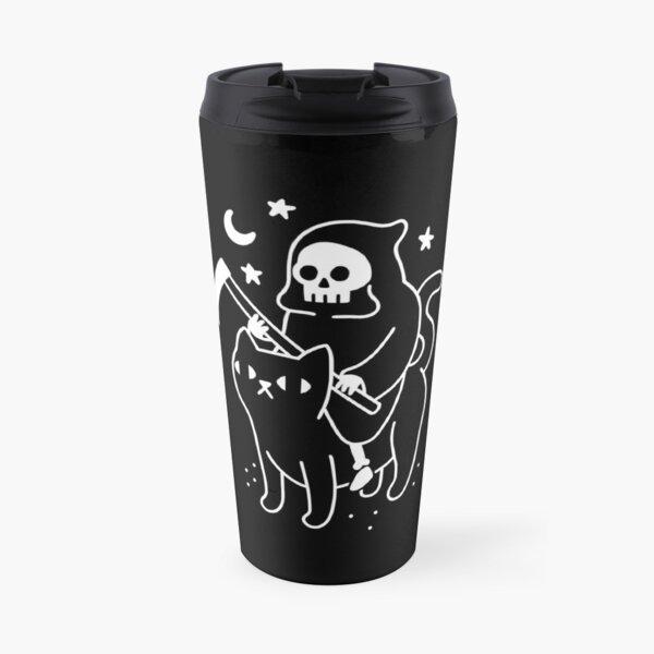 Death Rides A Black Cat Travel Mug