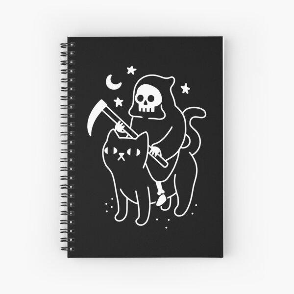 Death Rides A Black Cat Spiral Notebook