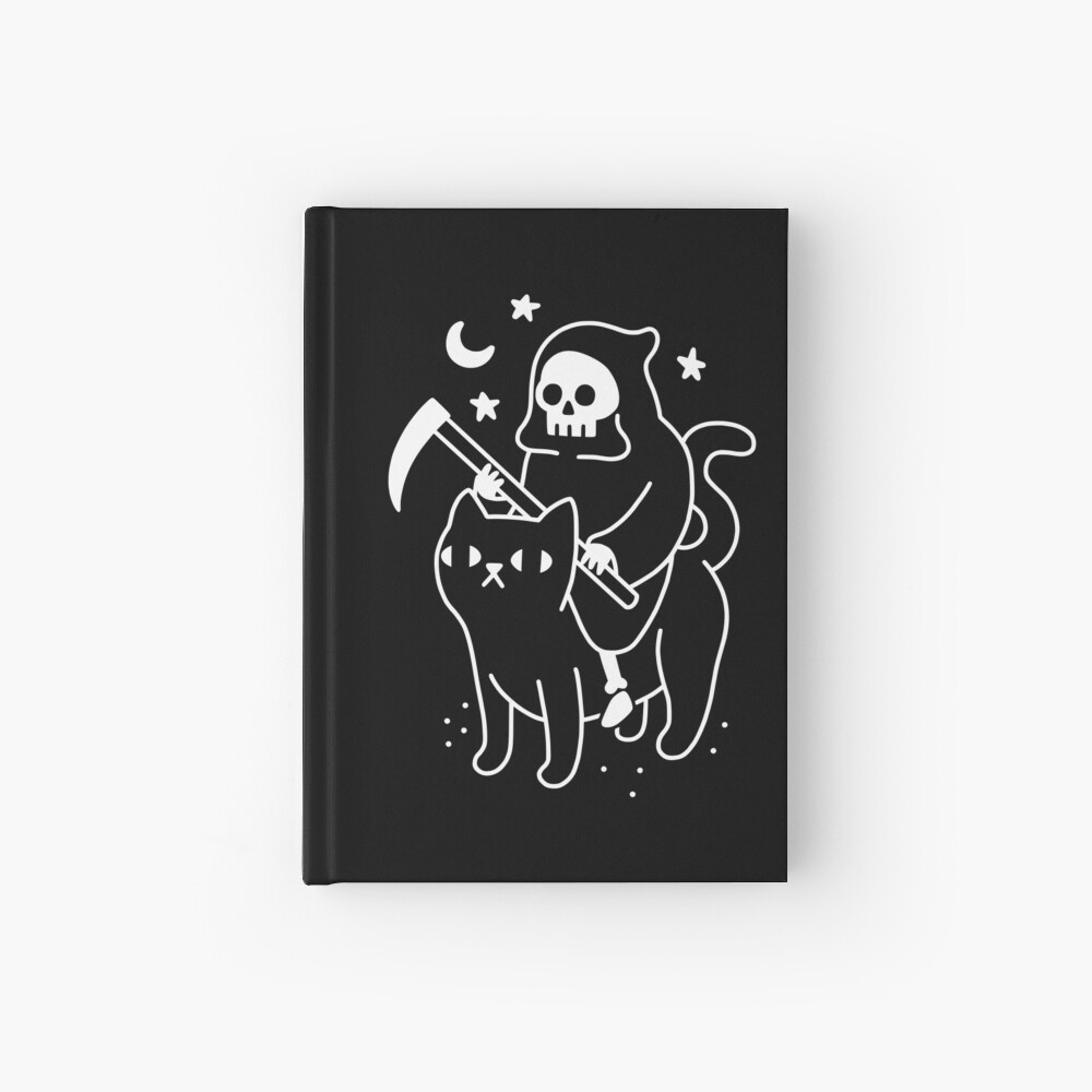 Death Rides A Black Cat Hardcover Journal