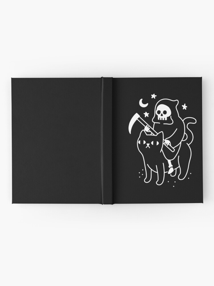 Alternate view of Death Rides A Black Cat Hardcover Journal