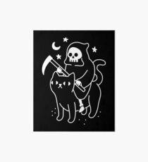 Death Rides A Black Cat Art Board Print