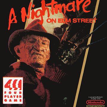 Nightmare on Elm Street 8bit game art by SMALLBRUSHES