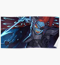 Undertale - Undyne, Spear Of Justice Poster