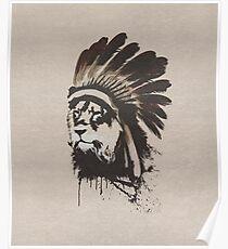 Lion Headdress Poster