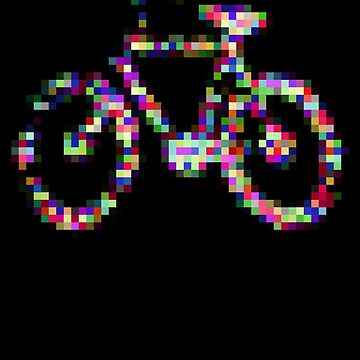 8 bit pixel bike (color on black) by skrubu