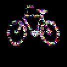 8 bit pixel bike (color on black) by Pekka Nikrus