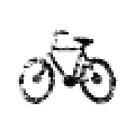 8 bit pixel bike (gray on white) by Pekka Nikrus
