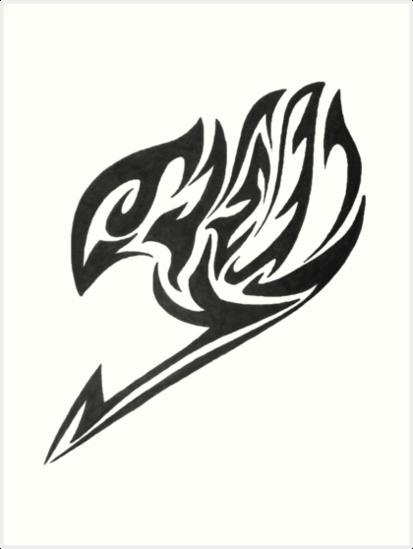 Fairy tail tribal logo art prints by deathnotereader - Fairy tail logo ...