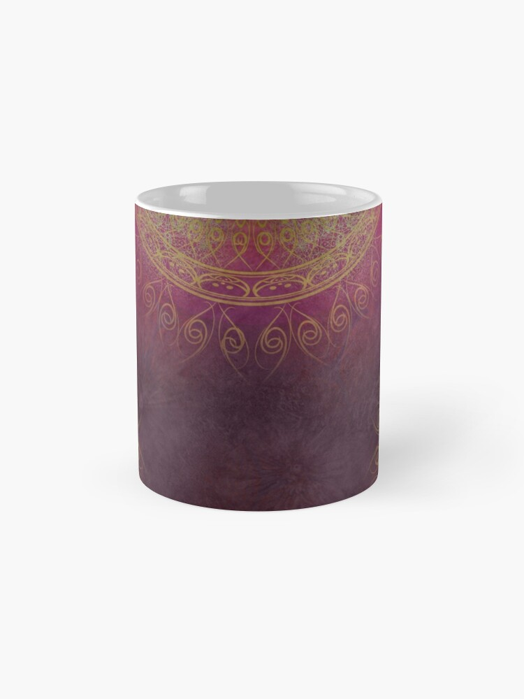 "Vista alternativa de Tazas ""Violet & Orange Mandala Deluxe"""