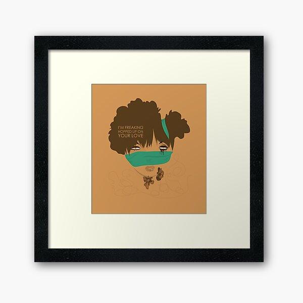 love high Framed Art Print