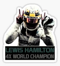 Lewis Hamilton - 4x F1 World Champion Sticker