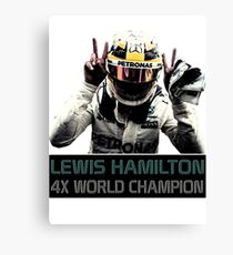 Lewis Hamilton - 4x F1 World Champion Canvas Print