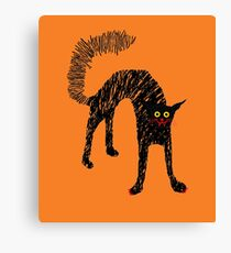 Halloween Chat noir 01 Canvas Print