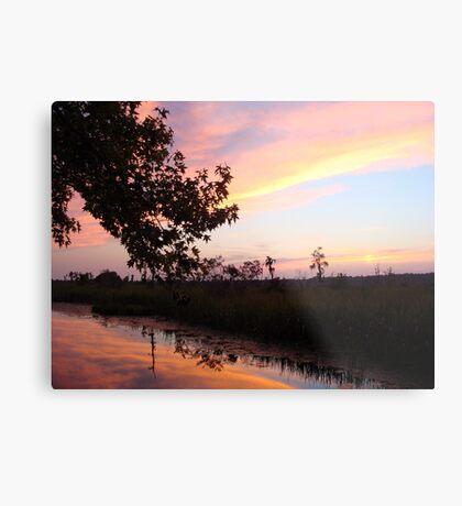 BANNERS OF LEMON LIGHT - SUNSET ON ECONFINA CREEK Metal Print