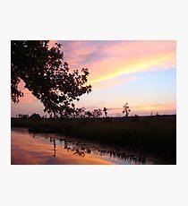 BANNERS OF LEMON LIGHT - SUNSET ON ECONFINA CREEK Photographic Print