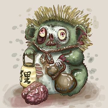 Zombie Tanuki  by melancholymoon