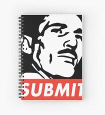 Helio Gracie Submit Spiral Notebook