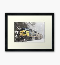 Train comes riding, riding,  Framed Print