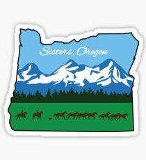 Pegatina Hermanas, Oregon [Diseño alterno]