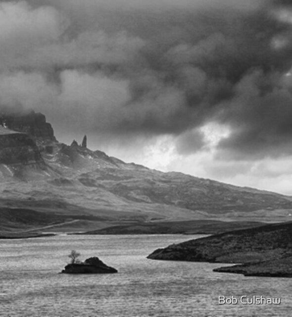 Old Man of Storr and Loch Fhada, Trotternish, Isle of Skye, Scotland by Bob Culshaw