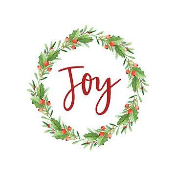 christmas wreath-joy by SylviaCook