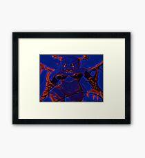 Demonic Anime Girl Blue Framed Print