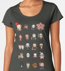 16-bit Horror Movies - 2017 IT ver. Women's Premium T-Shirt