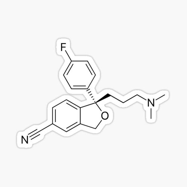 Escitalopram Molecule Sticker