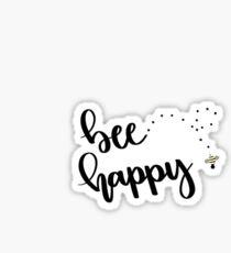 """bee"" happy Sticker"