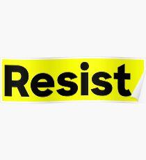 Resist. Poster