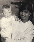 Ecstatic baby (me) with family friend  by Anthea  Slade