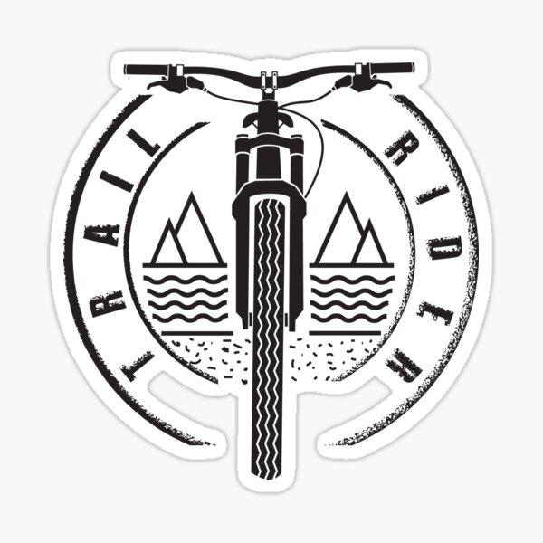 Trail Rider - Black - Mountain Bike Sticker