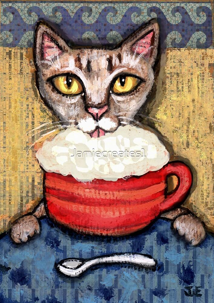 Abyssinian With Coffee by Jamie Wogan Edwards