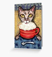 Abyssinian With Coffee Greeting Card