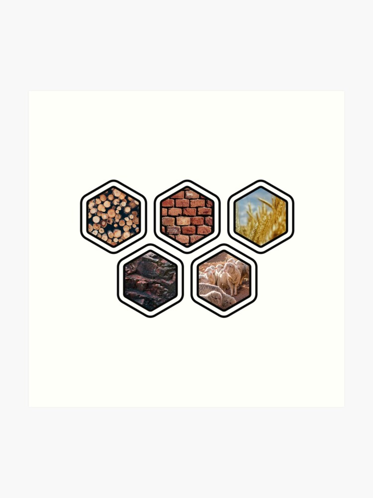 photo relating to Settlers of Catan Printable named SETTLERS OF CATAN Products Artwork Print