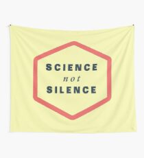 Science not Silence Wall Tapestry