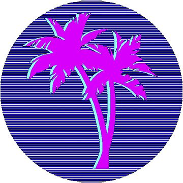 Vaporwave palm trees 2 de verysadpeople