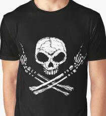 Camiseta gráfica Skull Metal